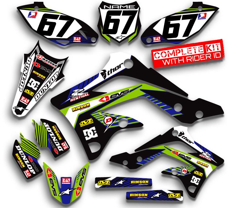 kdx50 graphics kit kdx 50 kawasaki decals moto stickers all years pit bike deco ebay